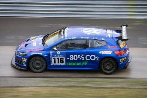 Three VW Scirocco cars will run on biogas at demanding international race