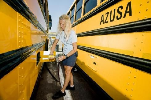 CNG station formally opened for L.A. schools