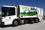 The largest fleet of CNG refuse trucks is launched