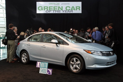 The Six Judge Panel On The Green Car Of The Year Jury Selected The Civic  Natural Gas From A Field Of Five Contenders, Including The Ford Focus  Electric, ...