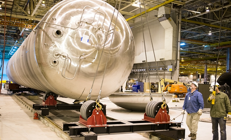 Lockheed's first LNG tank for Wärtsilä for Harvey Gulf is to be completed at the upgraded Michoud facility in New Orleans later this month.