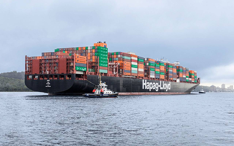 Hapag Lloyd Will Convert Its 15 000 Teu Ship Sajir To Operate Using Lng The Contract For Retroing Was Signed With Hudong Hondhoa Shipbuilding